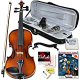 Bunnel Pupil Violin Outfit 4/4 Full Size Clearance By Kennedy Violins - Carrying Case and Accessories Included - Solid Maple Wood and Ebony Fittings RB300