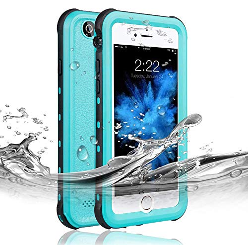 RedPepper Waterproof Case for iPhone 6 Plus/6s Plus[5.5-Inch ], IP68 Certified Drop Resistant Full Sealed Underwater Protective Cover, Shockproof, Snowproof, Dirtproof for Outdoor Sports (Grass Blue)