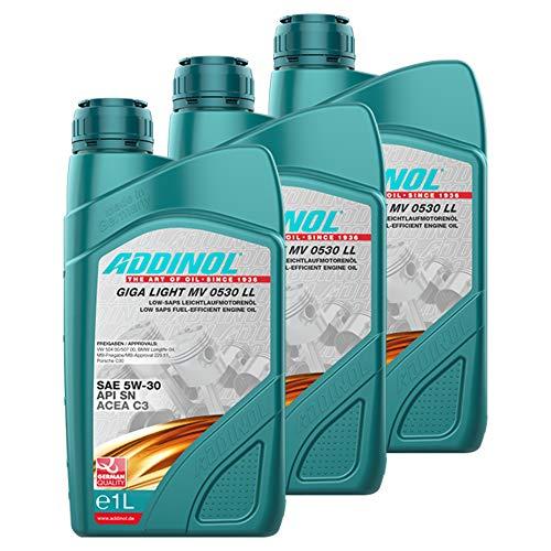 Addinol 3X Motoröl Motorenöl Motor Motoren Motor Oil Engine Oil Benzin Diesel 5W-30 Giga Light Mv 0530 Ll Longlife 1L