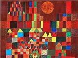 Poster 40 x 30 cm: Burg und Sonne von Paul Klee -