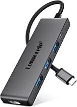 Hub USB C HDMI 4K - 6 en 1, Lemorele Adaptador USB C Hub con 3 USB 3.0, Carga rápida de 100 W, Multi USB C Adaptador Macbo...