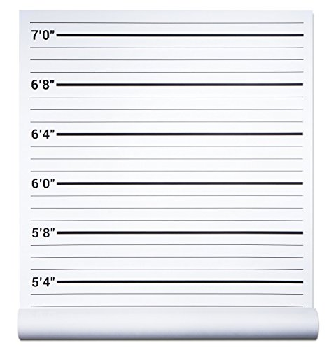 Papery Pop Mugshot Backdrop - Photo Booth Props Height Chart Poster - Mug Shots Prison Police Lineup - 24 by 48 Inch