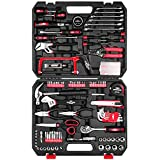 EXCITED WORK 198-Piece Home Repair Tool Set,General Household Hand Tool Kit with Hammer, Pliers, Wrenches, Sockets and Toolbox Storage Case