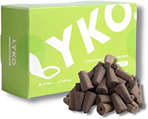 Lyko Compatible Grow Sponges Kit(50 Pack)-PH Balanced Germination Tray Refill for Hydroponic Garden System-Biodegradable Smart Soil for Indoor Growing Lettuce-Herb Seed Starter Pod Natural Coco Coir