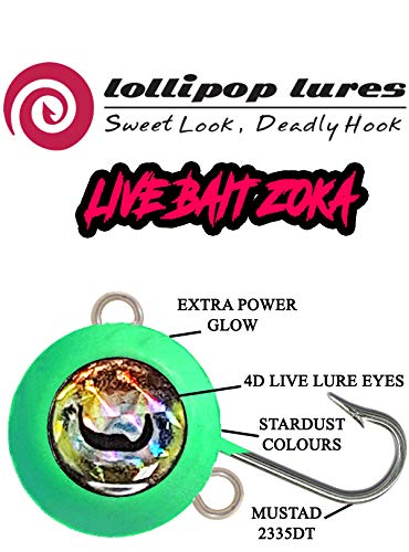 LOLLIPOP LURES ZOKA Ball Jig KABURA y Sistema de Cebo Live Bait ZOKA Full Luminous 180g