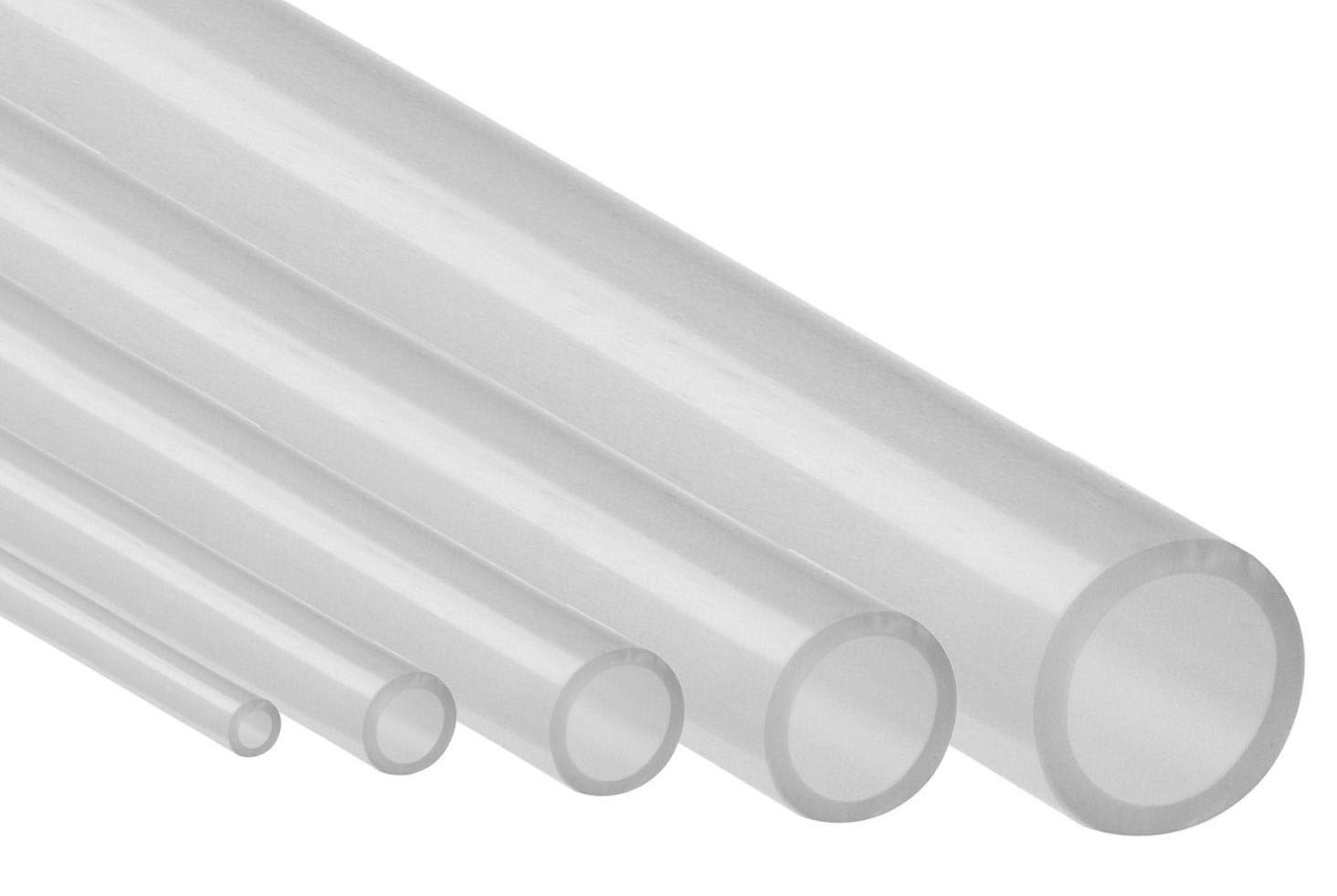 Silikonschlauch Meterware Industriequalität 60 C Bis 200 C Schlauch Transparent 2mm X 4mm Gewerbe Industrie Wissenschaft