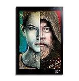 Luke y Rey de Star Wars: Los últimos Jedi - Pintura Enmarcado Original, Imagen Pop-Art, Impresión Pó...