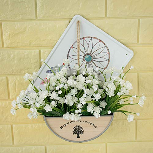 Asoaso 4 Pcs Artificial Flowers Fake Outdoor Faux Plants Greenery Daffodils White Shrubs Plastic Bushes - Artificial Flowers Dried