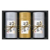 静岡銘茶 深むし茶 煎茶(清緑)100g×3 FMC-80