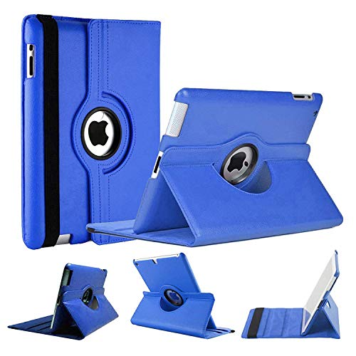 World Biz,Case for Apple iPad Mini 1 2 3, [Wallet Case] Shockproof PU Leather Book Style Flip Folio 360° Rotating Total Protection Cover With Auto Wake/Sleep. Apple iPad Mini 1/2/3, Color: Dark Blue