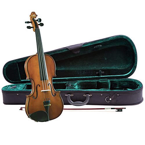 Cremona SV-130 Premier Novice Violin Outfit - 4/4 Size,Traditional Brown