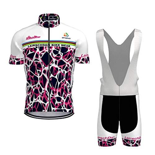 N/A Bodies de Ciclismo para Hombre~Jersey Mangas Cortas Ciclismo Conjunto 9D Acolchado De Gel Ciclismo Culote,Transpirable/Secado rápido,para MTB/Spinning/Bicicleta,style1,S
