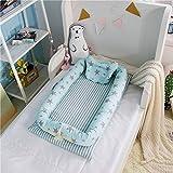 Luerme Réducteur de lit doux avec coussin pour bébé