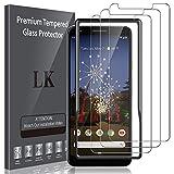 LK Pellicola Protettiva per Google Pixel 3a Vetro Temperato,[3-Pezzi] [9H Durezza] Protezione Schermo Screen Protector [Strumento per Una Facile Installazione] [Alta Trasparente], LK-X-65