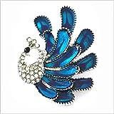 SUNXIN Brillo Rhinestone pavo real lindo pavo real broche animal accesorios de plata magnífica joyería de las mujeres de los hombres