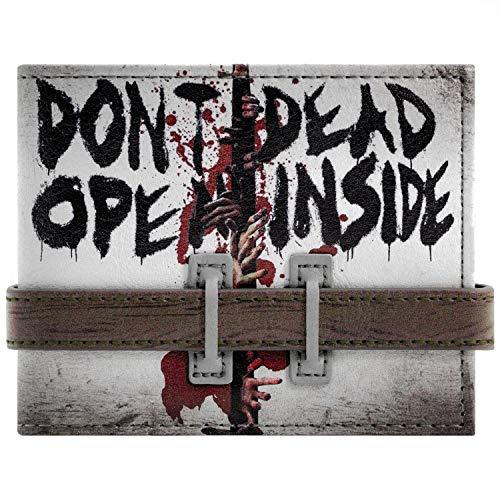Cartera de Walking Dead No se abra Correa abotonado Gris