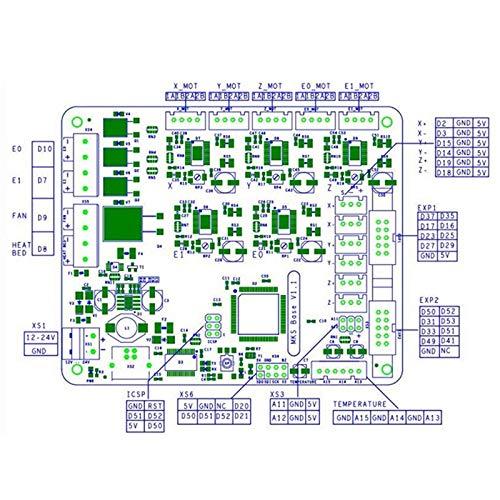 CUHAWUDBA 3D Stampante Scheda Madre Kit Mks Base