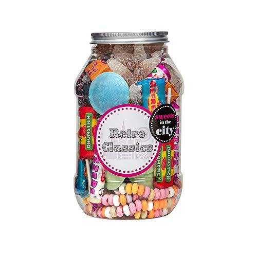 Retro Classics Sweet Jar by Sweets in the City. Packed with childhood favourites