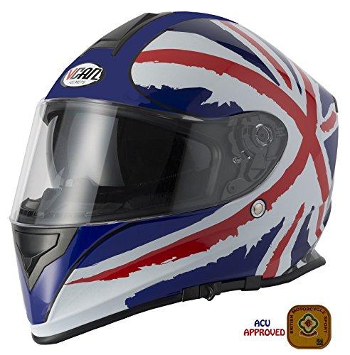 V-CAN Motorfiets Scooter Vcan V127 Bike Touring Crash Rijden Volledige Gezicht Helm Met Grid Balaclava