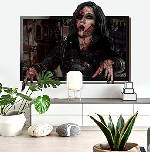 Hunpta @ Halloween Deko Wandaufkleber Horror 3D-Effekt DIY Selbstklebende Aufkleber Wandtattoos Wohnzimmer Schlafzimmer Wand Fenster Party Dekoration