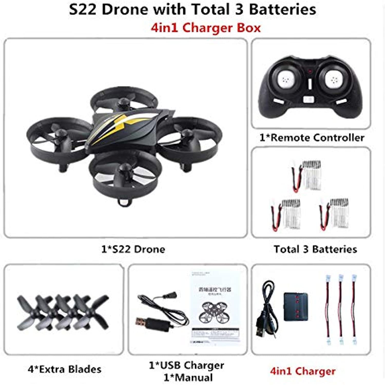 Generic RC Mini Drone Dron Quadcopter Remote Control Quadrocopter RC Helicopter 2.4G 6 Axis Gyro Drones with Headless Mode VS H36 E010 B4