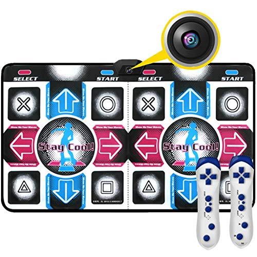 WYH Intéressant Danse Blanket Double épaissie TV Ordinateur à Double Usage Danse Machine somatosensoriel Jeu Accueil Danse Main Sensible (Color : Blue)