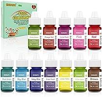 Colorant alimentaire liquide concentré Nourriture Dye 12 couleurs 6ml