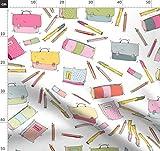 Stift, Schule Stoffe - Individuell Bedruckt von Spoonflower