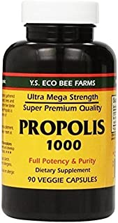 YS Eco Bee Farms Propolis 1000 - 90 caps (Pack of 4)