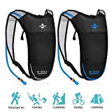 ACVCY 2 Pack Hydration Backpack,Lightweight Water Backpack with 2L Water Bladder and Adjustable...