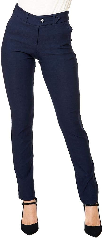 Incognita Pantalon Para Mujer De Vestir Formal Marino Comodo 330414 Amazon Com Mx Ropa Zapatos Y Accesorios
