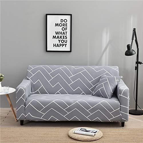 ASCV Housses de canapé Extensibles élastiques pour Salon Housse de canapé sectionnelle Universelle en Forme de L Meubles fauteuils Protecteur A7 4 Places