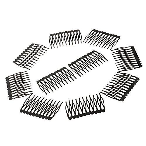 MagiDeal Ensemble De 10Pcs De Peignes Cheveux En Metal Accessoire Coiffure Beauté Pièce Bébé Enfant Femme