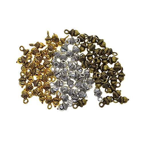 SDENSHI 90 piezas 3D Pineal Frutas, guirnaldas con tuercas espaciadoras para crear joyas artesanales.