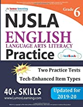New Jersey Student Learning Assessments (NJSLA) Test Practice: Grade 6 English Language Arts Literacy (ELA) Practice Workbook and Full-length Online Assessments: New Jersey Test Study Guide