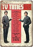 The Beatles TV Times カブトムシ メタルサインメタルポスターポストカード注意看板装飾壁掛壁パネルカフェバーレストランシネマボールルームミュージックフェスティバル