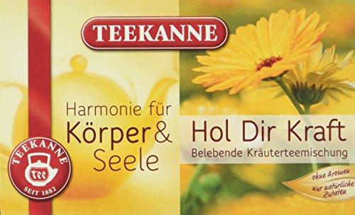 Teekanne Hol Dir Kraft Kräuterteemischung 20 Beutel, 5er Pack (5 x 40 g Packung)
