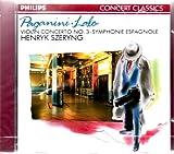 Paganini-Szeryng-Concerto N 3/Lalo Symphonie