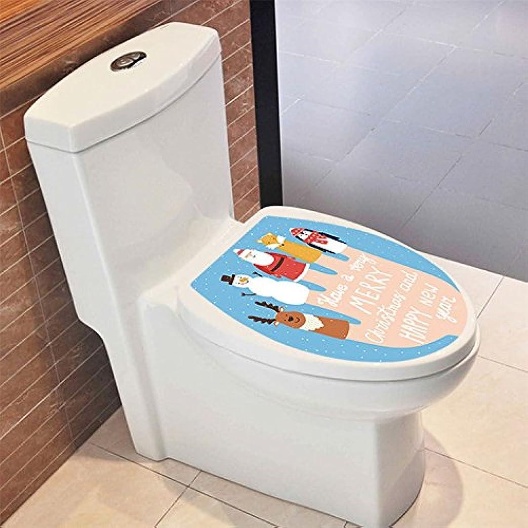 好意的心理的キャメルYanqiao ウォールステッカー クリスマス トイレ 便器用 クリスマスツリー ステッカー 壁紙 かわいい オシャレ