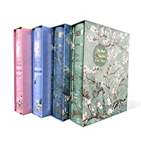 Zhi Jin  アルバム 200枚 6x4インチ写真誕生日記念アルバムボックスメモリブックギフト プラムブロッサムブルー