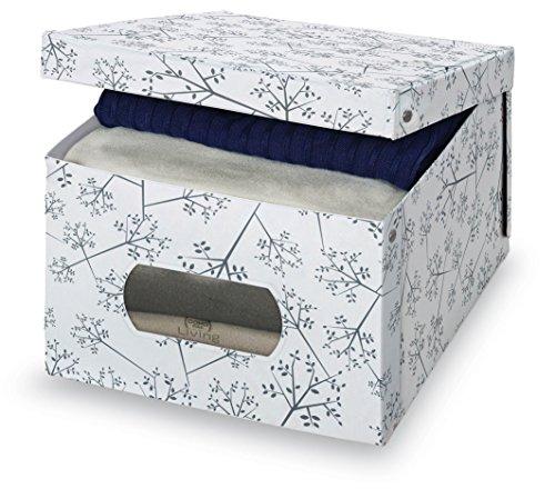 Domopak Living Scatola in PVC, Bianco e Grigio, 39 X 50 X 24