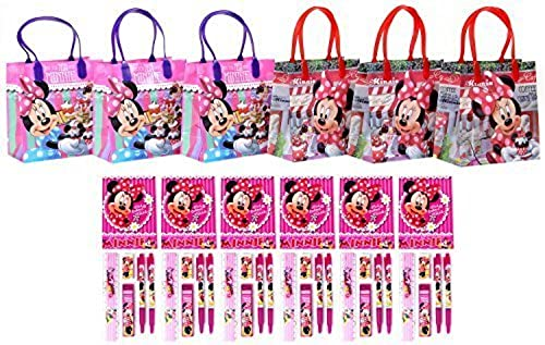 Disney Minnie Mouse Party Favor Stationery Set - 6 Packs (42 Pcs) by GoodyPlus