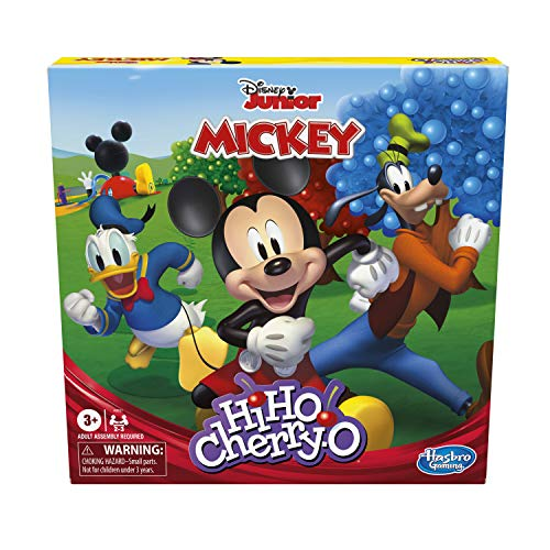 Hasbro Gaming Hi Ho Cherry-O Game Disney Mickey Mouse Clubhouse Edition (Amazon Exclusive)