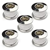 RocRide Single Chainring Bolts in Aluminum or Steel. Pack of 5. (Silver Steel)