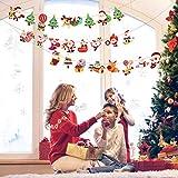 Matogle 7 Stück Weihnachten Girland Banner hängende Papiergirlande Merry Christmas Papier Santa Banner Weihnachtsmann Wimpelkette Schneemann Cartoon Deko für Weihnachten Neues Jahr Party DIY Deko - 6