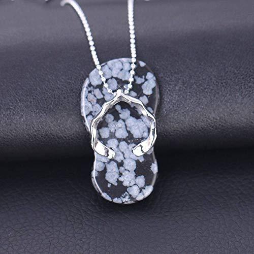 Collares Pendientes De Piedra,Elegante Colgante Con Forma De Zapatilla De Piedra De...