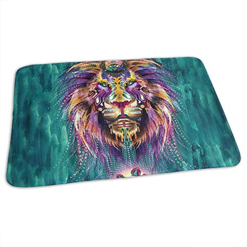 3d coloré lion abstrait matelas à langer portable bébé couche à langer poussette voiture 27.5x19.7\