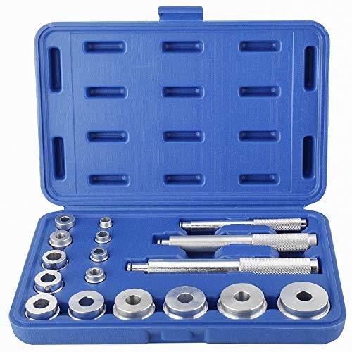 FreeTec 17tlg. Radlager Werkzeug Set Radlagerwerkzeug Abzieher Druckstücksatz Radlagerabzieher Montage Instandsetzung Werkzeug
