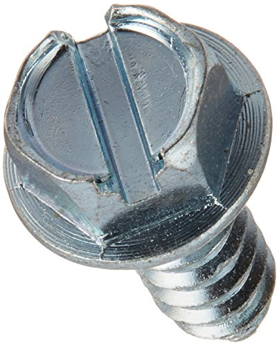 The Hillman Group 41038 Hex Washer Head Slotted Sheet Metal Screw, 14-Inch x 3/4-Inch, 50-Pack