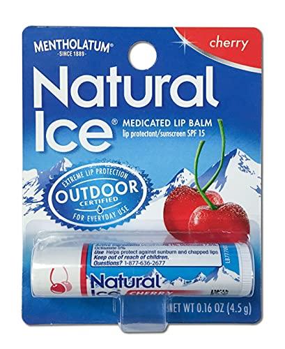 Mentholatum Natural Ice Lip Balm Original SPF 15 1 Each ( Pack of 12)